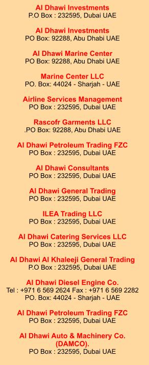 Dubai and Sharjah Dealers for Marine engines, diesel engines
